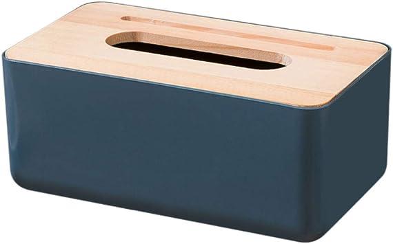 Cabilock Caja de pañuelos servilleta servilletas de Papel servilletas servilletas Organizador Mesa Soporte para teléfono con Ranura Cubierta de Madera para Oficina en casa (Azul Oscuro): Amazon.es: Deportes y aire libre