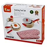 Viga Wooden Cooking Tool Set - Red