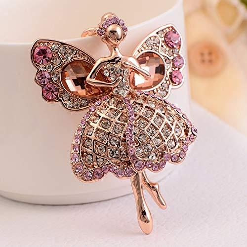 Wall of Dragon Luxury Car Keychain Cute Angel Wings Keyring Crystal Key Holder Key Chain Women