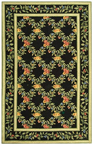 Safavieh Hand-Hooked Garden Trellis Black Wool Rug - 5'3