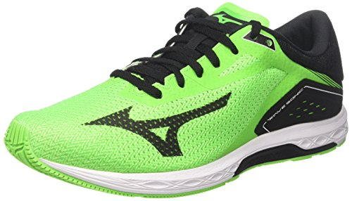 Mizuno Men Wave Sonic Gymnastics Shoes, Green Verde (Neon Green/Black/White)