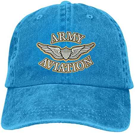 7d552f785545c Azmgh85dm Men Women Army Aviation with Wing and Shield Baseball Cap Denim Dad  Hat Trucker s Cap