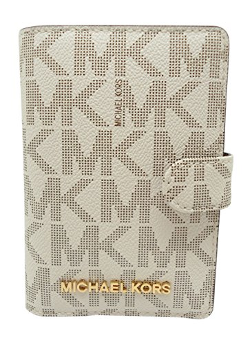 Michael Kors Jet Set Travel Passport Case Wallet (Vanilla/Acorn)