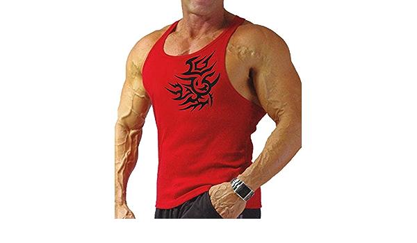 Tattoo Strongman Bodybuilder Gym Rockabilly Style Hommes ringer t shirt Inked