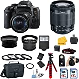 Canon EOS Rebel T6i DSLR Camera with EF-S 18-55mm IS STM Lens 33rd Street Kit includes 58mm Auxiliary .43x Wide Angle Lens + 58mm 2X Telephoto Lens + Canon Bag + Camera Flash + 2 16GB Memory Card