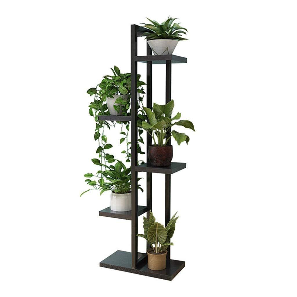 Khkfg Cornice per espositori in Metallo Multi-Use Ornaments Storage Shelf Decorativo per la casa Stand 116cm (H) (colore   Marronee)