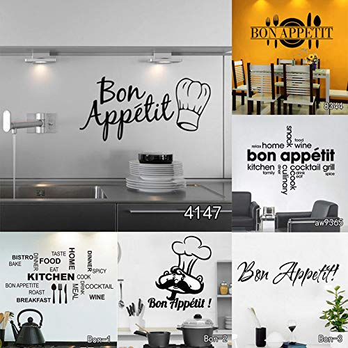Amazon.com: Chitop Bon Appetit Food Wall Stickers - Kitchen Room Decoration DIY Vinyl Adesivo De Paredes - Home Decals Art Posters Wall Papers (Bon2) (Big): ...