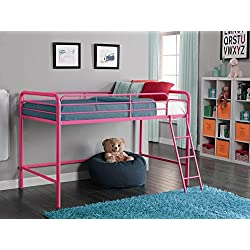 DHP Junior Loft Bed Frame Ladder, Pink