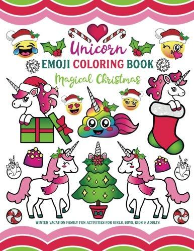 Used Book Buyback Unicorn Emoji Coloring Book Magical Christmas
