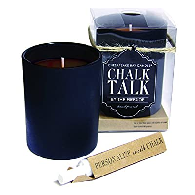 Chesapeake Bay Candle Chalk Talk Red Glass Scented Candle, Apple Cider -  - living-room-decor, living-room, candles - 513P1uUvroL. SS400  -
