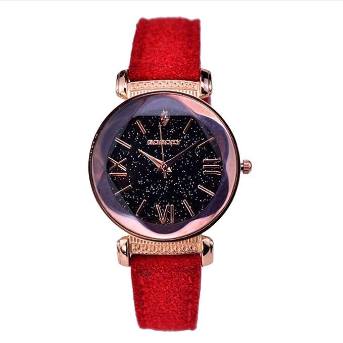 Coconano Relojes Mujer Baratos, Relojes de Cuero de Moda Clásico Reloj de Cuarzo Ocasional de Las Mujeres: Amazon.es: Ropa y accesorios