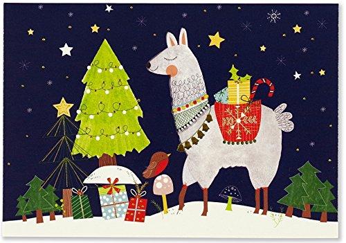 Fa La Llama Small Boxed Holiday Cards (Christmas Cards, Greeting Cards)