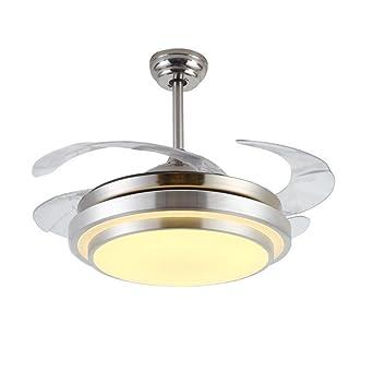 OOFWY LED acrílico ventilador de techo luces colgantes ...