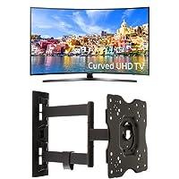 Samsung UN55KU7500 Curved 55-Inch 4K Ultra HD Smart LED TV + AmazonBasics Articulating TV Wall Mount