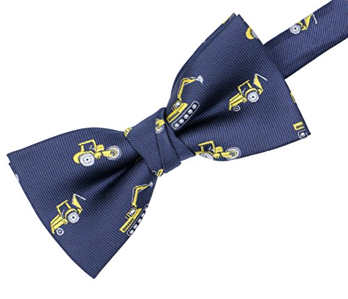 OCIA Boys Pattern Bow Ties Kids Tuxedo Pre-tied Bowties Party & Wedding Engineering Truck by OCIA (Image #3)