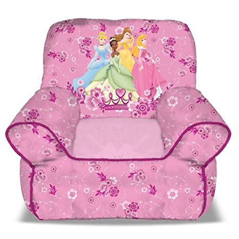 amazon com disney princess bean bag sofa chair 1 2 years toys