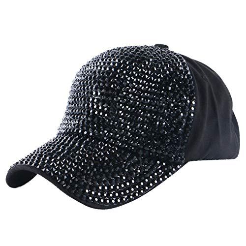 LONIY Women Brand Baseball Cap hat Fashion Customized Spring Summer Autumn Woman Girl Luxury Crystal Baseball ()