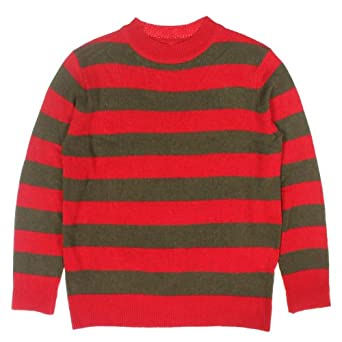 Amazon.com: Red And Olive Green Striped Sweater Size : Small: Clothing