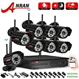 ANRAN 8CH 720P WIFI NVR HD 720P Home Security System with 8 Indoor Outdoor Weatherproof Bullet Night Vision HD 720P IP Network Cameras System NO Hard Drive