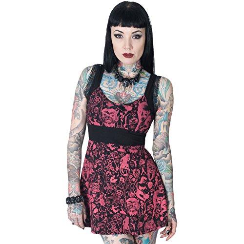 Women's Devil Made Me Do It Baby Doll Dress Kreepsville Gothic Horror Fashion (2X-Large)