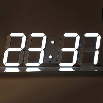 iLifeSmart: reloj de pared gigante digital, 3D LED, con mando a distancia; temperatura + despertador + calendario, multifunción: Amazon.es: Hogar