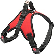 Head Tilt HT61009R-M Adjustable Padded Dog Harness, Medium, Red