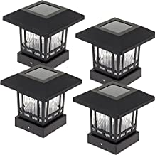 Westinghouse Solar 20 Lumens 4x4 Post Light for Wood Posts (Black, 4 Pack)