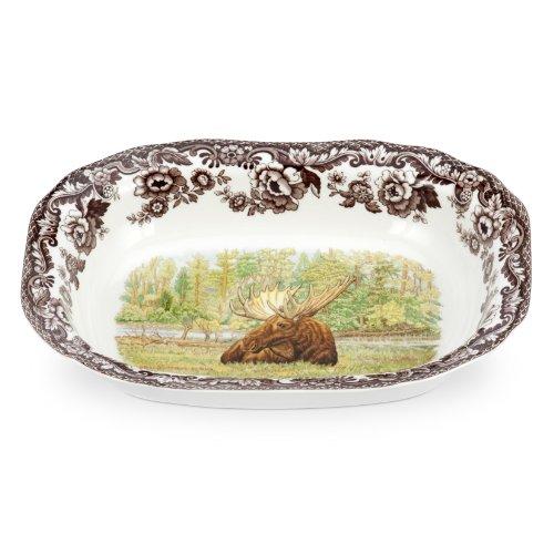 Spode Woodland Majestic Moose Open Vegetable Dish