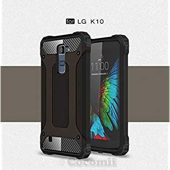 DEVMO Phone Case Compatible with LG K10 K410 K420 K425 K430 MS428 Hard Plastic Shell Case//Shockproof Hard Bumper//Protective Cover Grey
