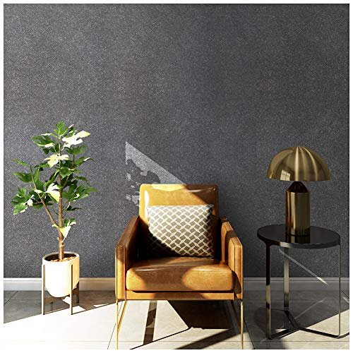 33' Victorian Tool - HaokHome 3024 Non Woven Silk Black Wallpaper Fiber Textured Wall Paper for Home Kitchen Bathroom Wall Decoration 20.8