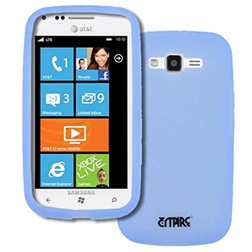 EMPIRE AT&T Samsung Focus 2 I667 Silicone Skin Case Tasche Hülle Cover (Transparent Light Blau)