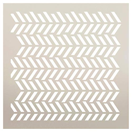 Fun with Shapes Herringbone Stencil by StudioR12 | Wood Sign | Reusable Mylar Template | Wall Decor | Multi Layering Art Project | Journal Art Deco | DIY Home - Choose Size (12
