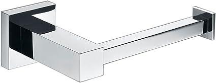 Quadrato Design Moderno Cromato Soak Accessorio Bagno Porta Carta Igienica con Montaggio a Muro