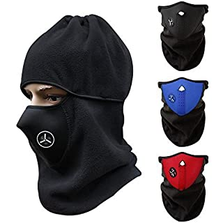 Sale CUGBO Unisex Windproof Half Face Mask Ski Mask Neck Warmer Cold Weather Mask for Motorcycles Bicycle Skiing Running Mountain Climbing (Red+Blue+Black)