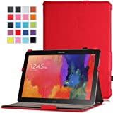Moko Samsung Galaxy Note PRO & Tab PRO 12.2 Case - Slim-Fit Multi-angle Folio Cover Case for Galaxy NotePRO (SM-P9000) & TabPRO (SM-T900 / T905) 12.2 Android Tablet, RED