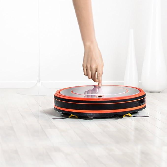 Fmart Robot Aspirador YZ-Q2 Limpiador de alfombras de Piso, Fregona Seca húmedo con Tanque de Agua, Robotic Limpiar para Mascotas Alergenos Inicio, ...