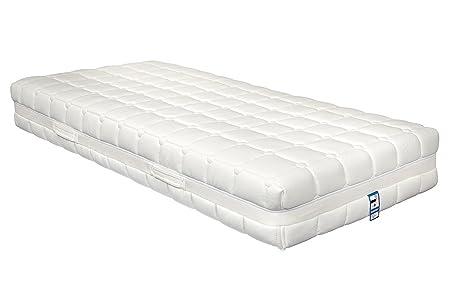 Yanis Dunlop 800 colchón de látex en Varios tamaños, Tela, Blanco, Single (90x190cm): Amazon.es: Hogar