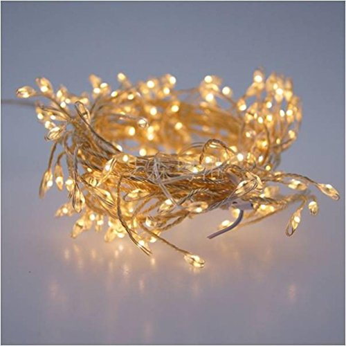 USB Firecracker Lamp Silver String 2 Meters 120 Lamp Rice Grain Light Warm White