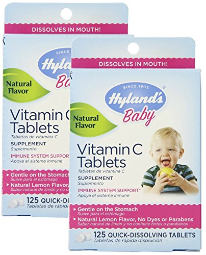 - Hylands Baby Vitamin C 125 Piece Tablets, 2 Count
