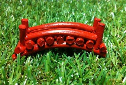 Mini Japanese Style Bridge for Fairy Mini Garden (Red) (Garden Furniture Miniature Japanese)