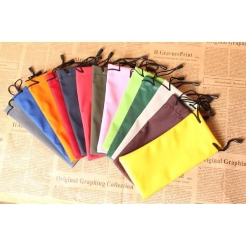 dmtse Lot de 10 souple étui pochette sac de rangement pour Lunettes de  soleil Lunettes Gadgets résistant à l eau avec cordon de serrage Sac de ... acba1e03b93c