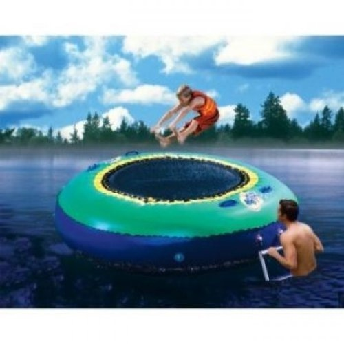Banzai Bounce Inflatable Water Or Land Trampoline Swimming