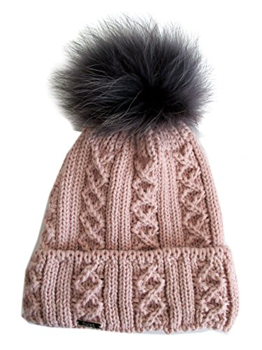 183c9c113ca Frost Hats Winter Women Asian Raccoon Pom Beanie Hat M-2013-340RN (Pink