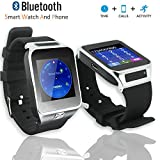 Indigi® Universal iOS & Android Touch Screen SmartWatch & Phone (Built-In Camera - MP3 - Phone Notifications)
