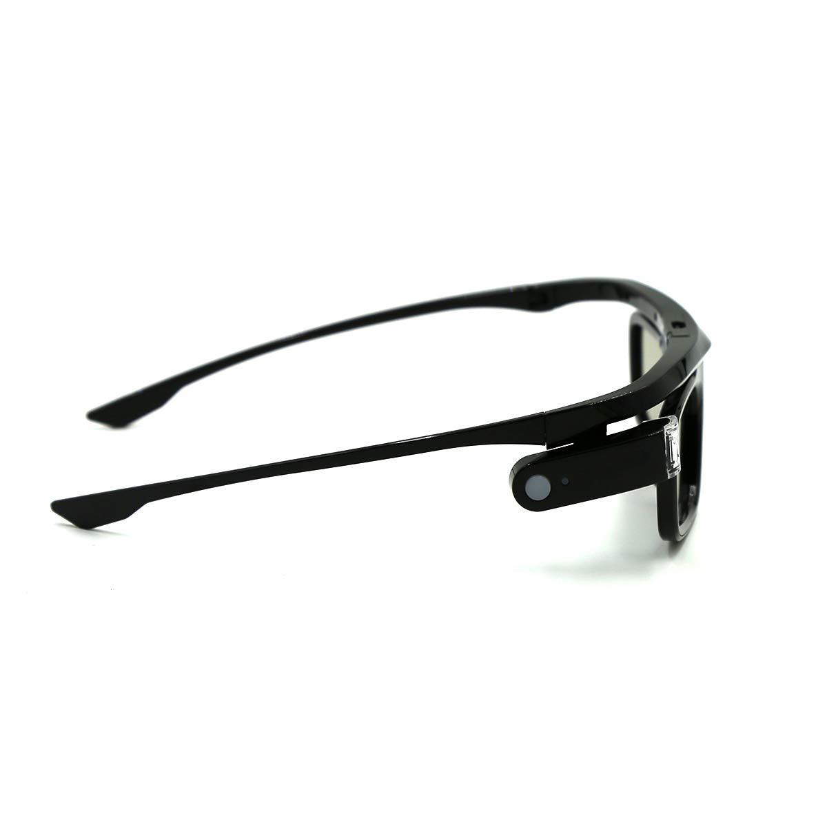 Active Shutter Rechargeable Eyewear for 3D DLP-Link Projectors Acer BenQ Optoma Viewsonic Philips LG Infocus NEC Jmgo Vivitek Cocar Toumei 3D Glasses Pack of 1