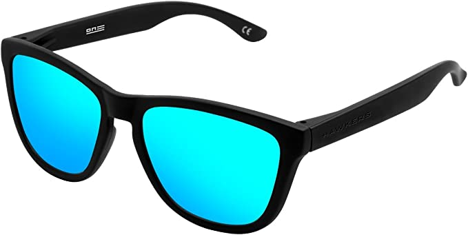 HAWKERS Gafas de sol, Carbon black/Clear blue TR18, One Size ...