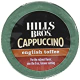 Hills Bros Cappuccino, English Toffee, Single Serve Coffee Cups, 16 Count