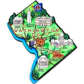 Amazon.com: Washington D.C. Map Magnet, Washington D.C. Magnets ...