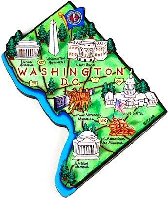 Amazon Com Washington D C Map Magnet Washington D C Magnets