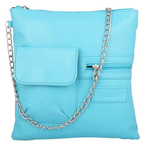 Spaziosa Blu Pelle Spice Art Bag